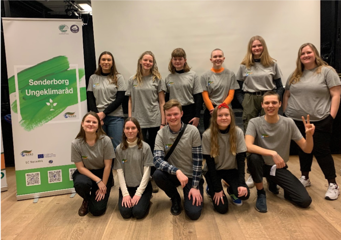 Sonderborg Youth Climate at the launch of their survey, January 30th, 2020.